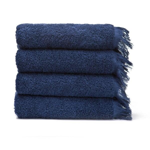 Zestaw 4 niebieskich ręczników bawełnianych Casa Di Bassi Bath, 50x90 cm