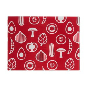 Czerwona szklana deska do krojenia Premier Housewares