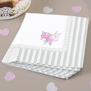 Zestaw 20 papierowych serwetek Neviti Frills and Spills