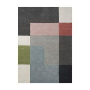 Wełniany dywan Tetris Powder, 200x300 cm