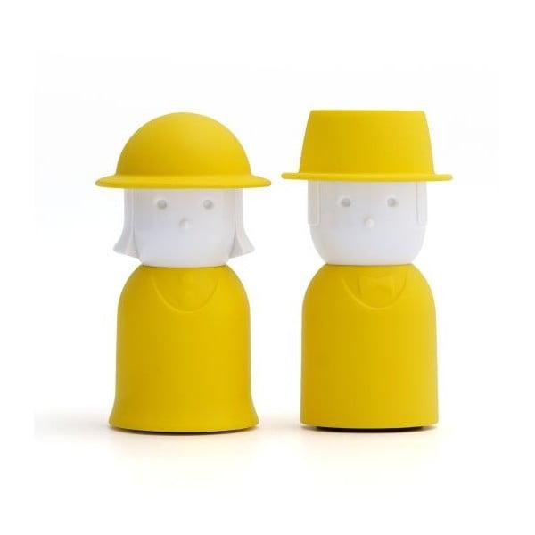 Solniczka i pieprzniczka QUALY Mr.Pepper & Mrs. Salt, żółte