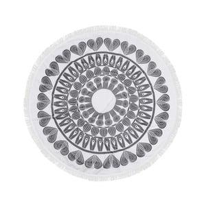 Kolorowy ręcznik plażowy ze 100% bawełny Nutmeg, ⌀ 150 cm