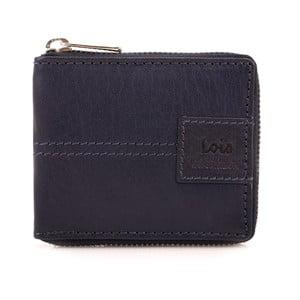 Skórzany portfel Lois Navy, 10,5x8,5 cm