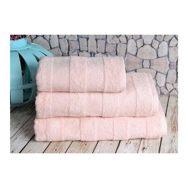 Łososiowy ręcznik Irya Home Nova, 50x90 cm