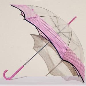 Parasol  Alvarez Vichy Transparent Pink