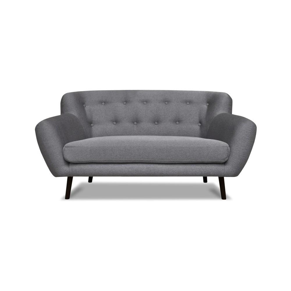 Szara sofa Cosmopolitan design Hampstead, 162 cm