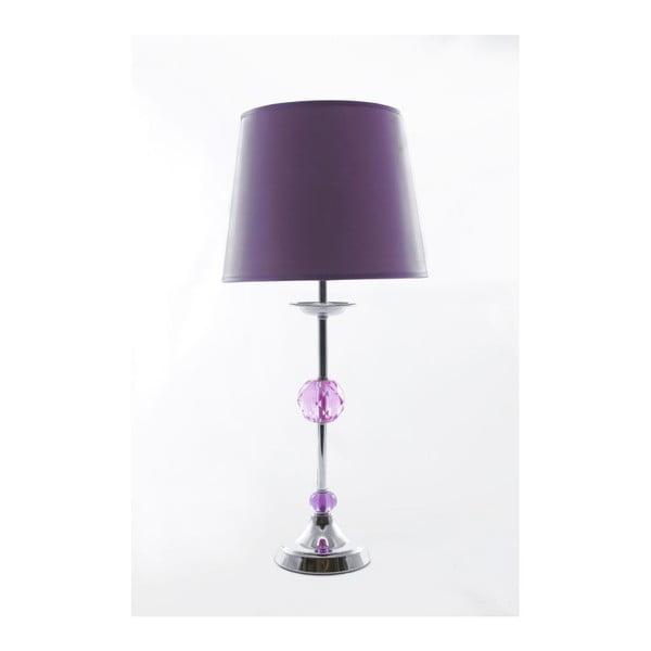 Lampa stołowa Glamour Violet, 49 cm