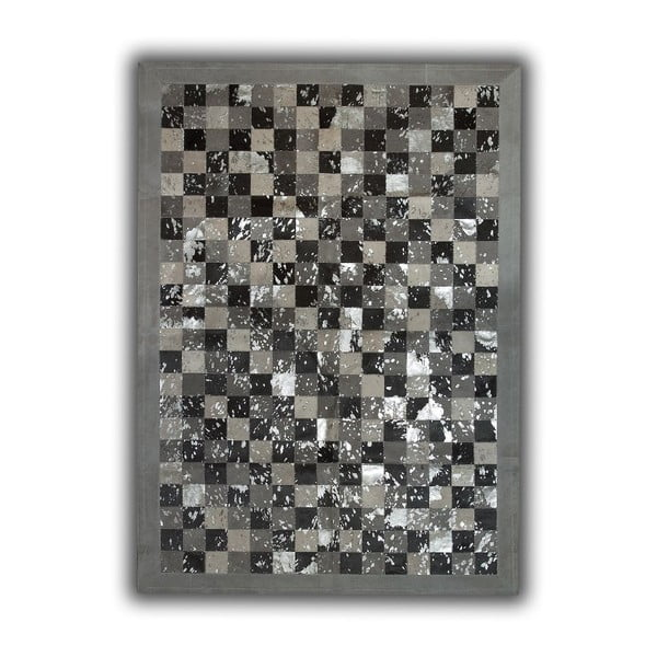 Dywan skórzany Acid Grey, 140x200 cm