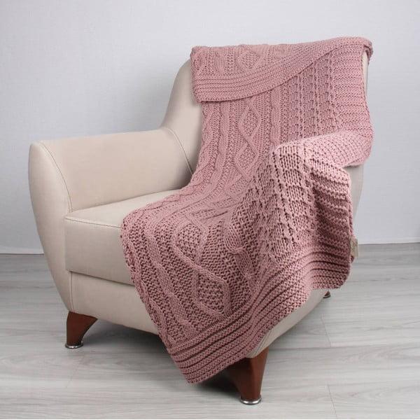 Różowy koc Homemania Teto, 170x130 cm