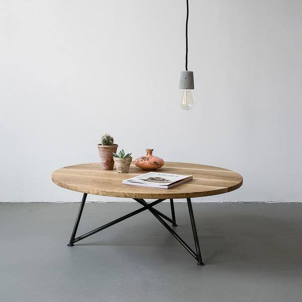 Stolik NUTSANDWOODS Oak, średnica 80 cm