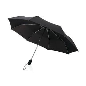 Czarna   parasolka składana odporna na wiatr Swiss Peak