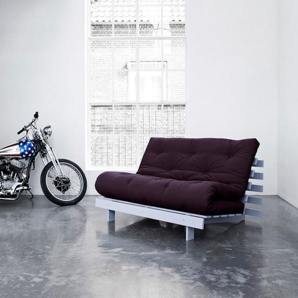 Sofa rozkładana Karup Roots Cool Gray/Purple