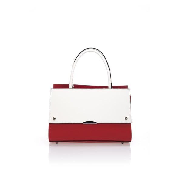 Skórzana torebka Advik,czerwono-biała
