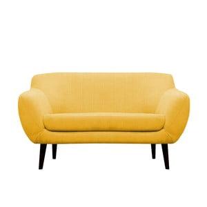 Żółta sofa dwuosobowa Mazzini Sofas Toscane