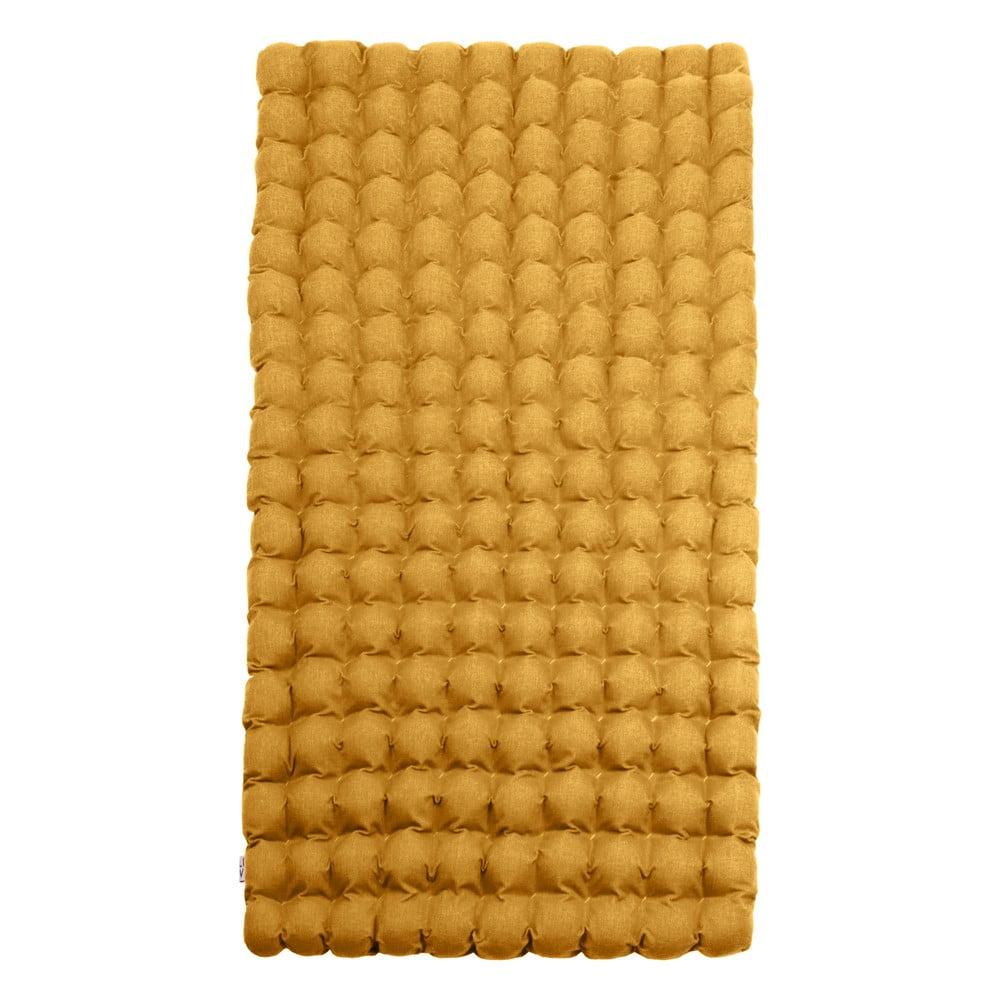 Ciemnożółty relaksacyjny materac Linda Vrňáková Bubbles, 110x200 cm