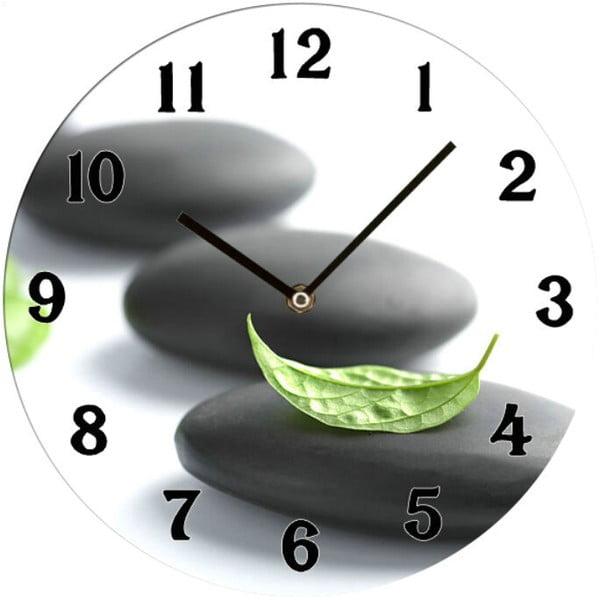 Szklany zegar Zen, 34 cm