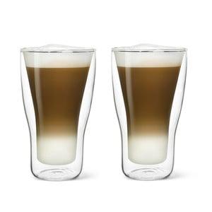 Zestaw 2 szklanek z podwójną ścianką Bredemeijer Latte Machiato, 340 ml