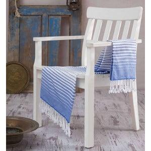 Niebieski ręcznik Hammam Gokkusagi, 100x180cm