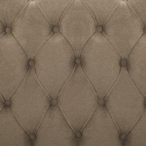 Brązowe łóżko z naturalnymi nóżkami Vivonita Allon, 140x200 cm