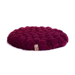 Cyklamenowa poduszka do siedzenia wypełniona piłeczkami do masażu Lindy Vrňáková Bloom, Ø 75 cm
