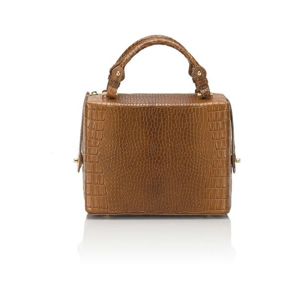 Skórzana torebka Luciano, koniakowa