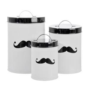 Zestaw 3 pojemników Mustache