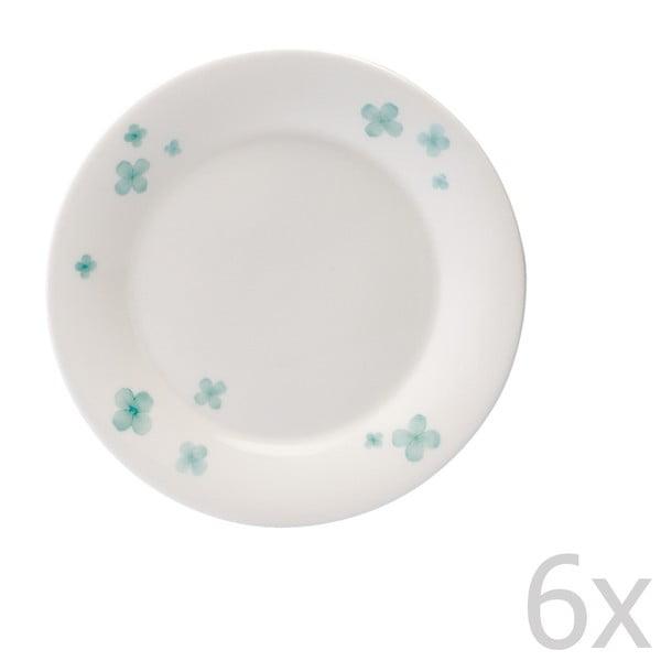 Zestaw 6 talerzy z porcelany angielskiej Petal, 15 cm
