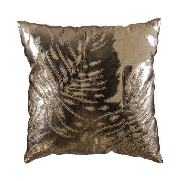 Poszewka na poduszkę, beżowa ze złotą fakturą