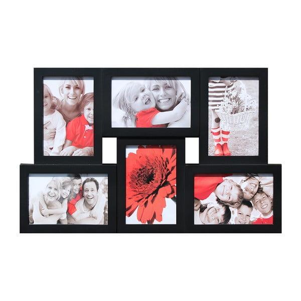 Połączone ramki na 6 zdjęć, czarne