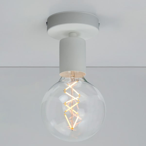 Biała lampa sufitowa Bulb Attack Cero