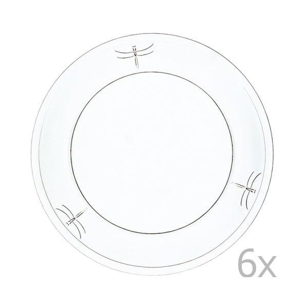 Zestaw 6 talerzy Libellules, 19 cm