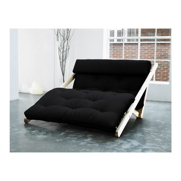 Szezlong Karup Figo, Raw/Black, 120 cm