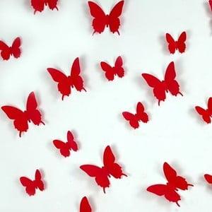 Zestaw   12 naklejek Ambiance Red Butterflies