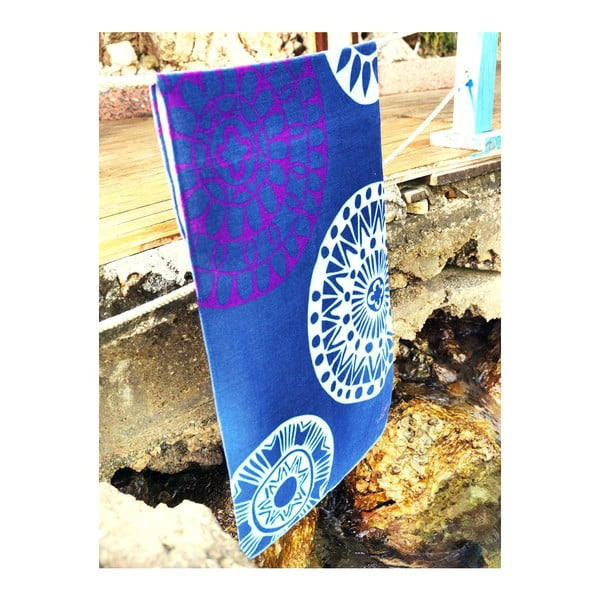 Ręcznik Blue Circle, 75x150 cm