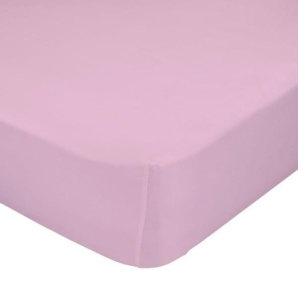 Różowe prześcieradło elastyczne Happynois, 60x120 cm