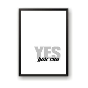 Plakat Nord & Co Yes You Can, 21x29 cm