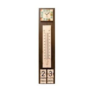 Zegar z termometrem i kalendarzem Antic Line
