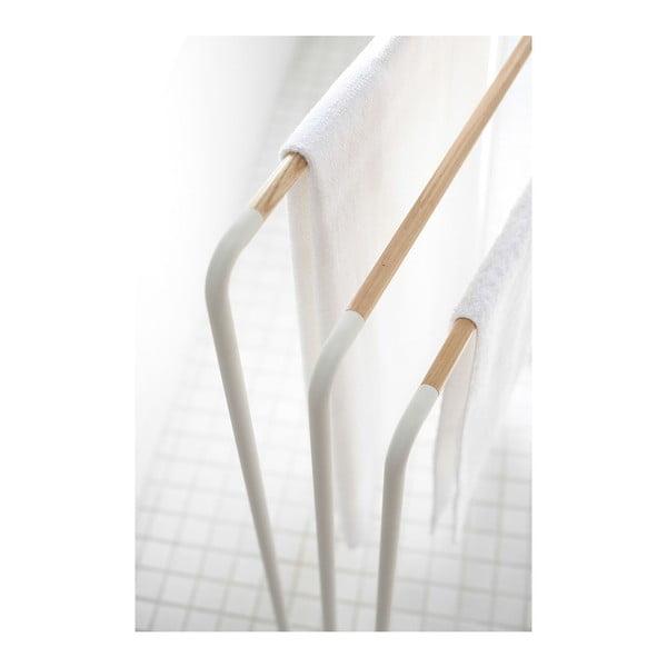 Biały wieszak na ręczniki YAMAZAKI Plane