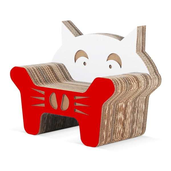 Kartonowy fotelik dziecięcy Gatto Red