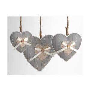 Komplet 3 serduszek dekoracyjnych Heart Knot