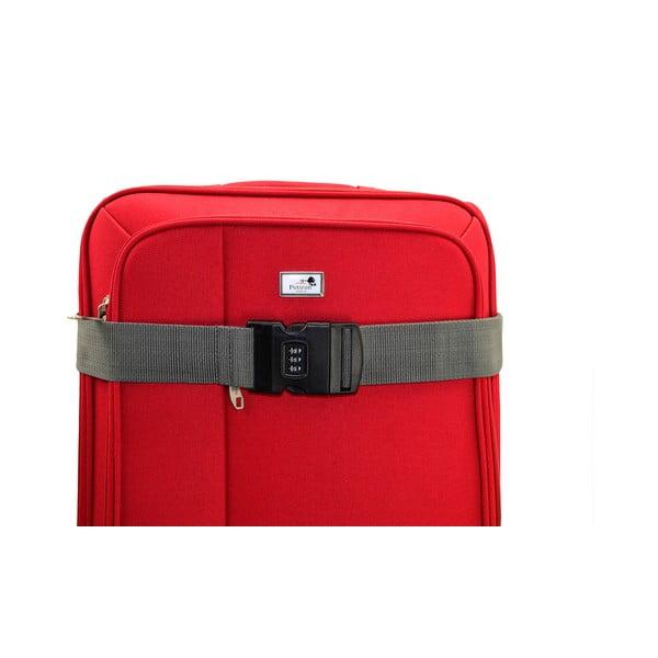 Szary pas spinający na walizkę z szyfrem Blue Star Access