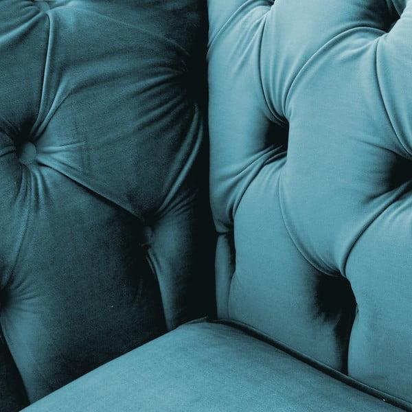 Niebieski fotel Vivonita Chesterfield