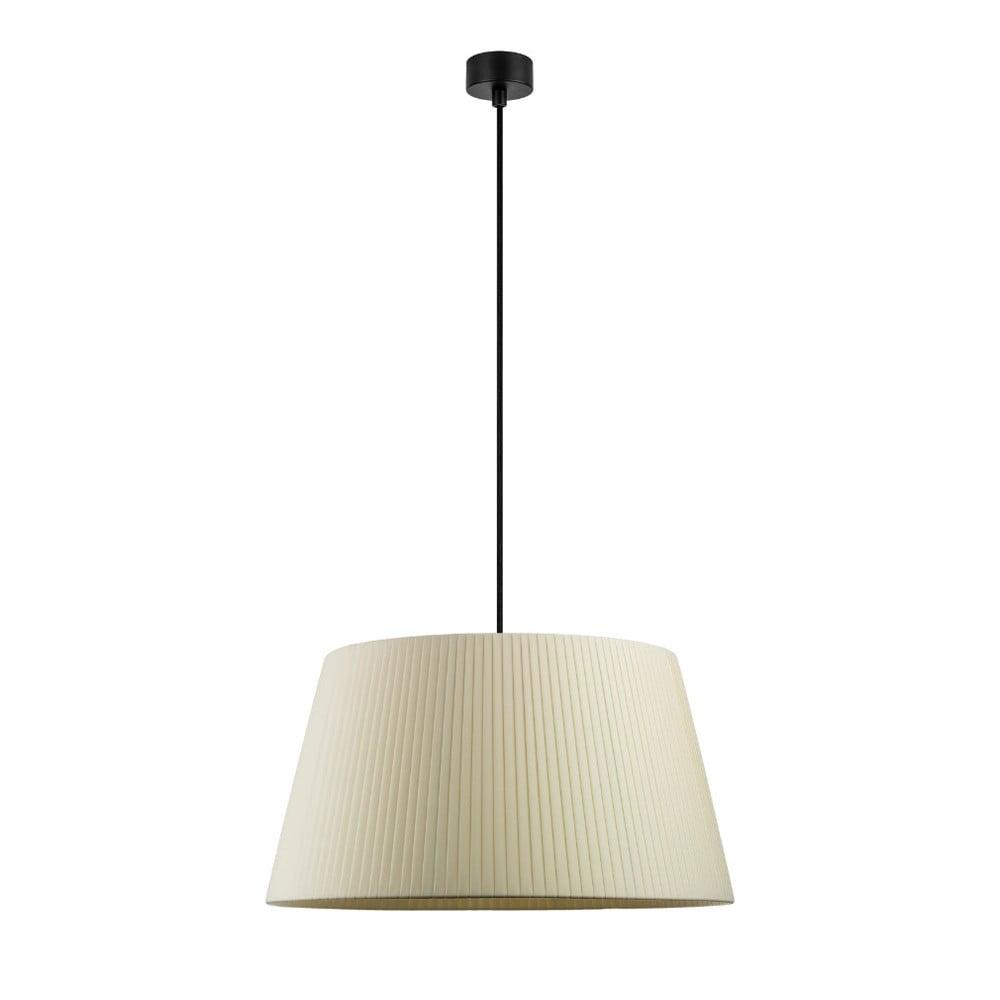 Kremowa lampa wisząca z czarnym kablem Sotto Luce Kami, ⌀45cm