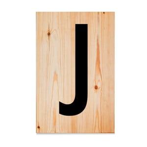 Drewniana tabliczka Letters J