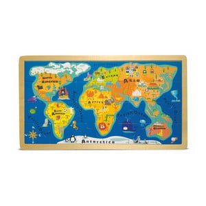 Puzzle w ramce Legler World Map