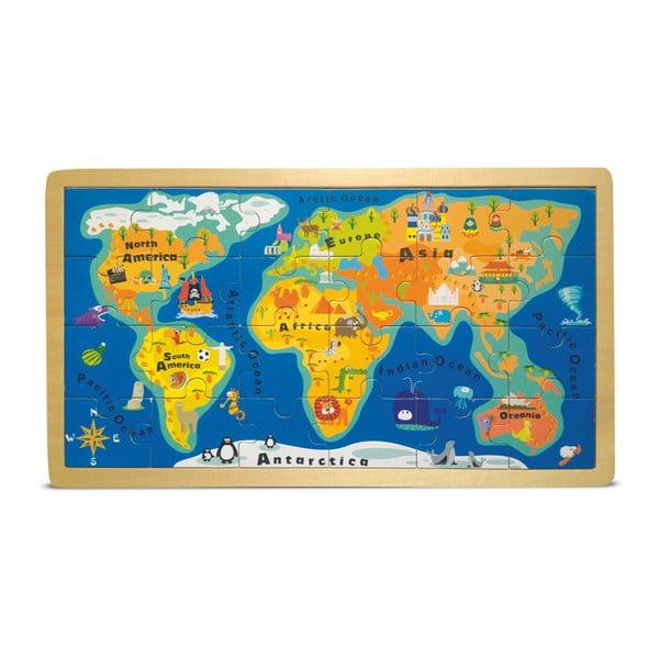 Puzzle w ramce Legler World Map