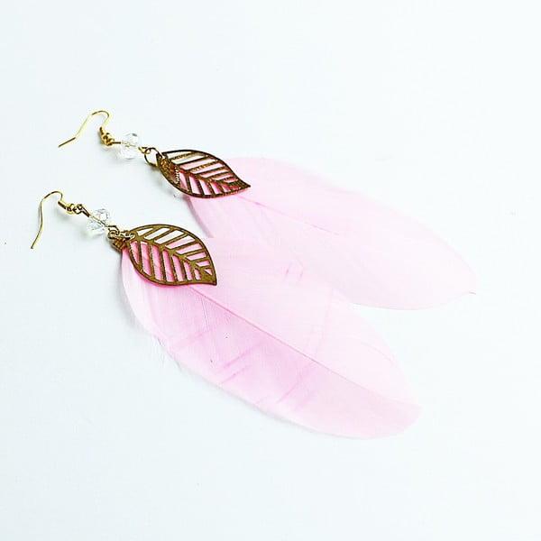 Kolczyki Pink Feather