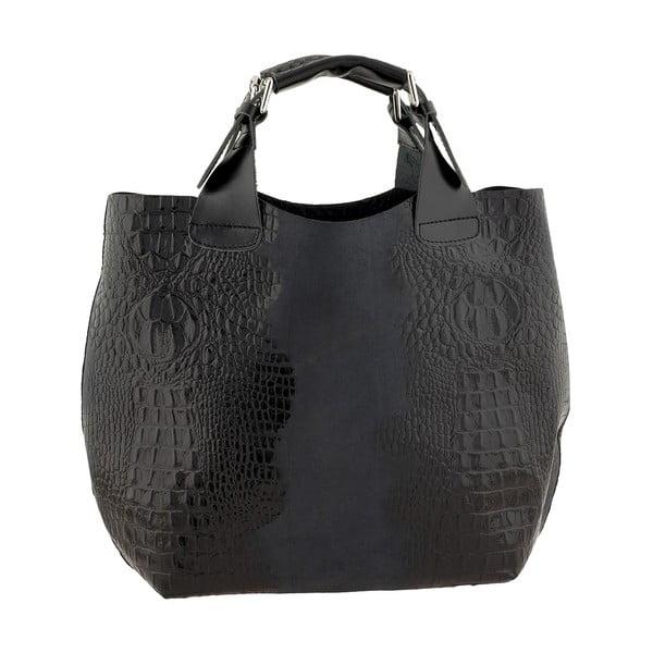 Skórzana torebka Luxury Italia, czarna
