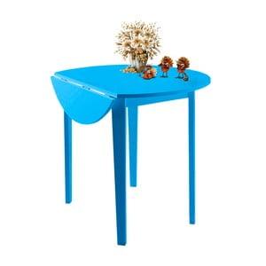 Niebieski stół z częściowo rozkładanym blatem Støraa Trento Quer, ⌀92cm
