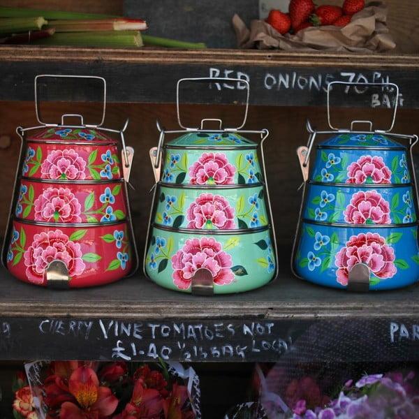 Komplet misek Franjipani Tiffin, różowy